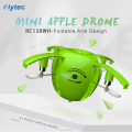 Flytec RC130WH Flying apple Drone 2.4G 4CH Mini Foldable Drone with HD Camera Wifi FPV Transmission RC Quadcopter