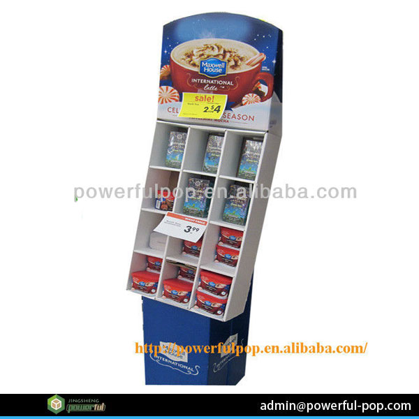 chocolate floor stand retail point of purchase cardboard paper pop corrugated display shelf