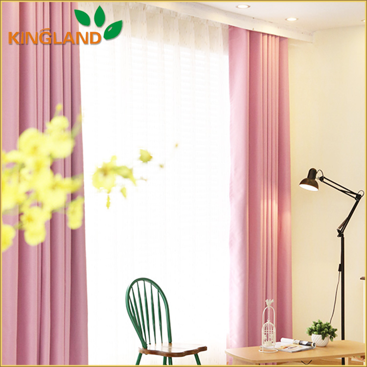 2016 New Thermal Insulated Polyester Blackout Curtains Non-Toxic Grommet Top Curtains