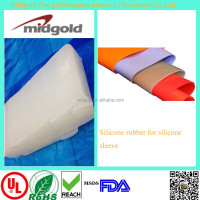 Raw material price silicone for silicone sleeve