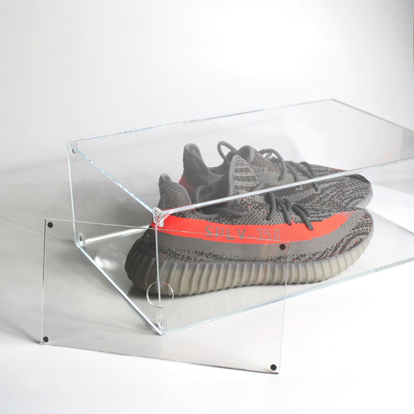 High transparent cheap acrylic boxes made in Dongguan/ shoes display box