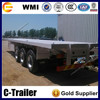 Chengshida brand high quality tri axles 40ft flat bed tractor head container trailers