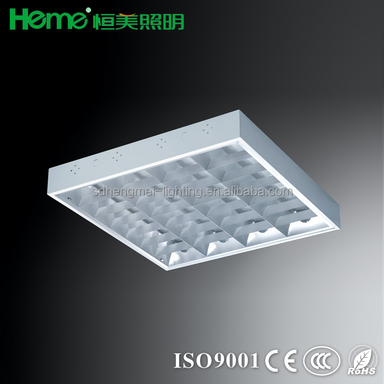 Surface T8 tube grille lamp lighting fitting fixture