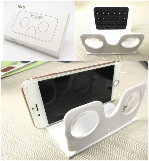 custom logo hot selling foldable Plastic Mini VR Top VR Games Virtual Reality glasses