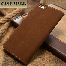 Custom cell phone PU retro leather cases for iphone 6plus
