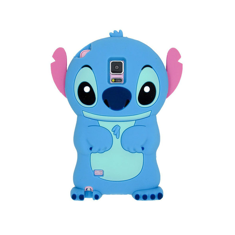 Mobile phone accessories, high quality cute and fashion cartoon Stitch shaped silicone Mobile phone case