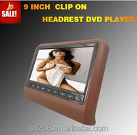 hot sale 9 inch digital portable headrest car dvd player with Touch screen