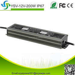 ultra-thin power supply 200w 12v mini led driver waterproof IP67