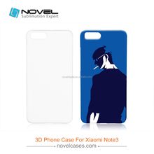 Sublimation Plastic Phone Case For Xiao-Mi Note 3,3D Diy Blank Cover