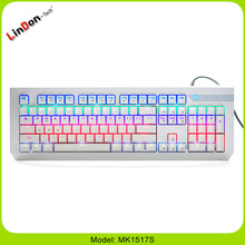 Durable 2015 hot sale Splash proof Mechanical Keyboard Blue Switch Gaming104 Keys