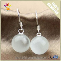 Fashion Ladies Design Opal Earrings Wholesale,Natural Opal Silver Dangling Drop Earrings,Cat Eyes Silver Drop Earrings