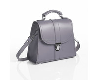 Light purple messenger/lady bag with plug lock soft PU handle for fashion ladies