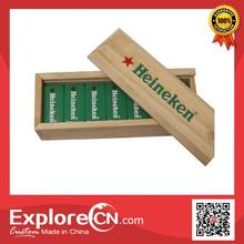 Top grade customized wooden domino set