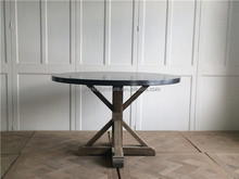 high quality garden furniture outdoor concrete top wood dining table