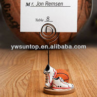 Basketball Themed shoe Place Card Holders Sport Theme