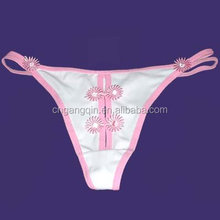 China factory white cotton ladies sexy fancy panty thong