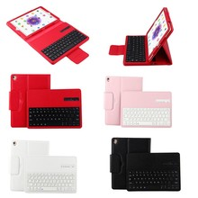 Litchi Pattern Leather Detachable Bluetooth Keyboard Case for iPad Pro 9.7, for apple ipad pro 9.7 case leather with keyboard