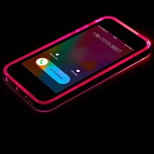 ROCK Colorful Calls Flash Light Plastic Bumper Cases for iPhone 5s 6 6 Plus