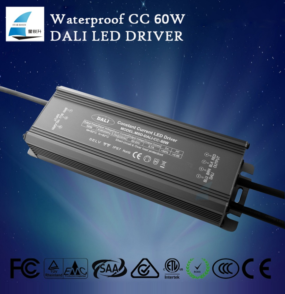 60w led driver circuit dali led dimmable driver ip67 waterproof