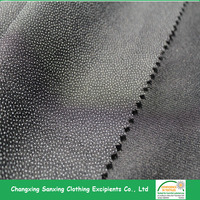PA coating Woven Fusible Interlining fabric 75D*75D
