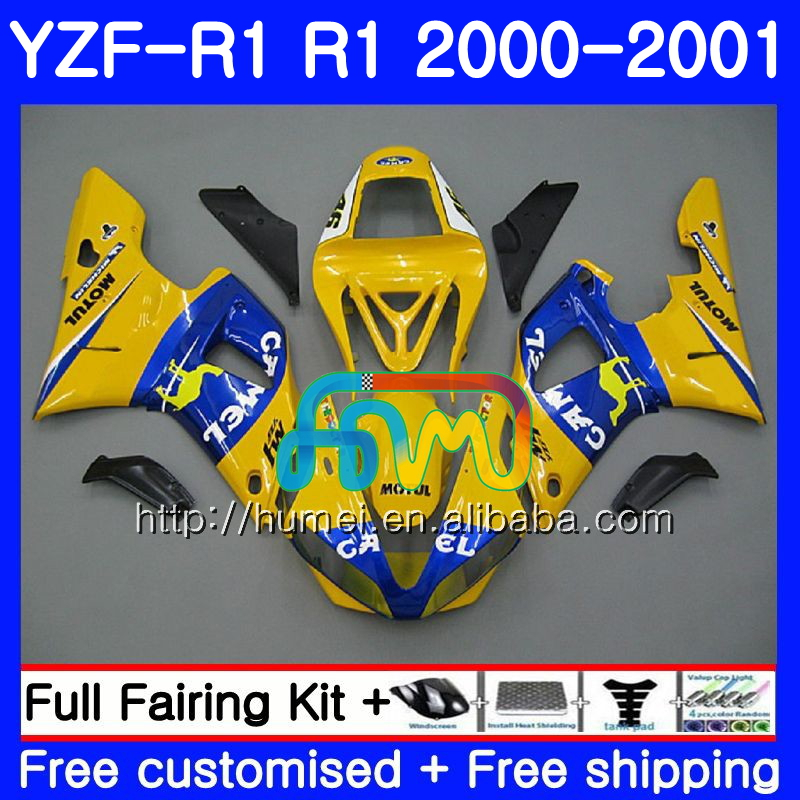 Bodywork For YAMAHA YZF 1000 YZF-<strong>R1</strong> 2000 2001 Body 98HM28 YZF1000 CAMEL blue YZF R 1 YZFR1 <strong>00</strong> <strong>01</strong> YZF-1000 YZF <strong>R1</strong> <strong>00</strong> <strong>01</strong> Fairing