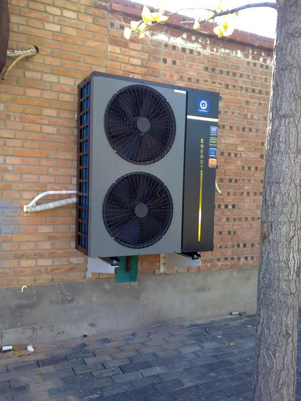 air to water inverter heat pump with energy label