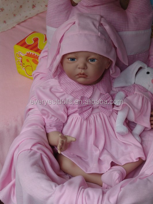 silicone reborn baby dolls/full vinyl body or cloth body