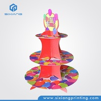 Color Printing POS Product Cardboard Cupcake Stand for Supermarket Shelving