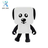 Cute children toy dance dog speaker,wireless with 4 hour rechargeable battery life ,3W audio dancing robot speaker