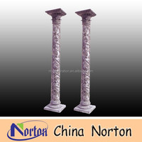 Flower decorative carved marble column for sale NTMF-C102