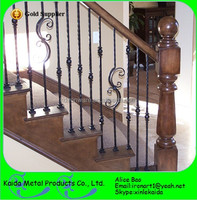 cheaper wrought iron baluster wood stairs