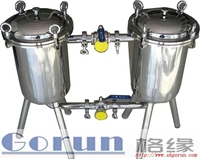 High quality stainless steel sanitary filters/double filter