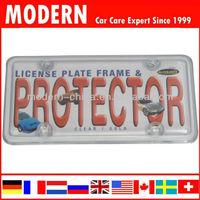 Car plastic license frame plate
