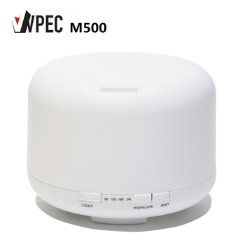 500ml MUJI Hot Sell White Aromatherapy Diffuser with Changing Color LED Light