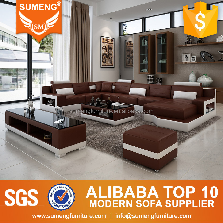 SUMENG 2016 New Design drawing room sofa set with coffee table tv-stand