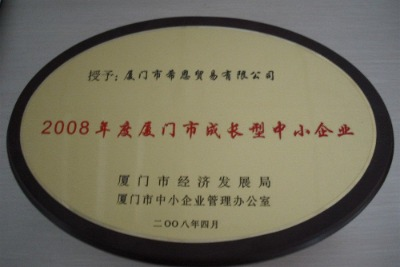 2008 year Xiamen Developing Minor Enterprise