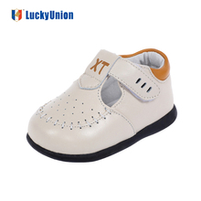 European trendy baby boy leather casual shoes with soft sole