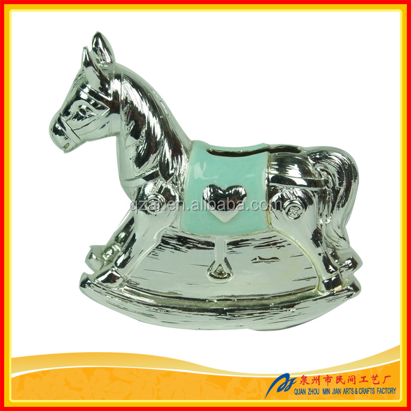 Resin Rocking Horse Money Box