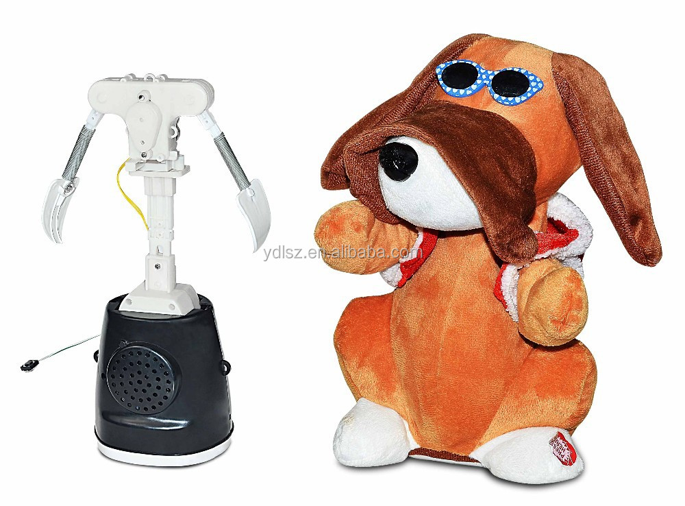 customize sunglass dog walking singing dancing animal toys
