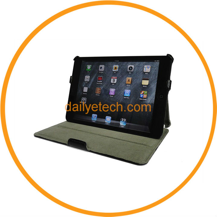 Black Magnetic Slim Leather Smart Case for iPad Mini from Dailyetech