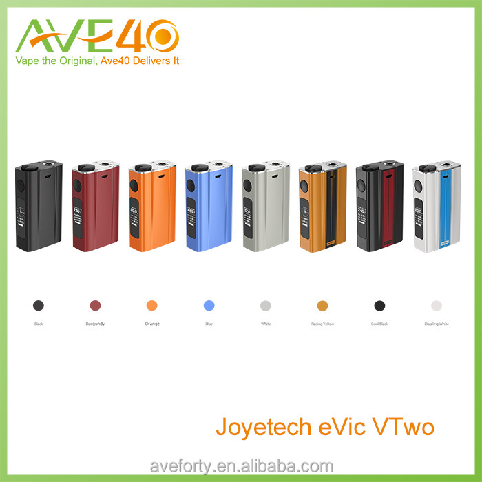 New fatastic design vaping mod 80w Joyetech evic VTwo 75w with orange, blue, white, burgundy, black, gold, cyan, grey, red color