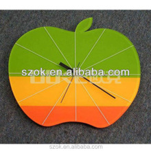 Custom made apple shaped acrylic wall clock