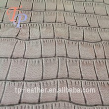 Mirror surface crocodile Pu Synthetic Leather for Bag