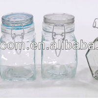 Glass Condiment Seasoning Jar Canister Container