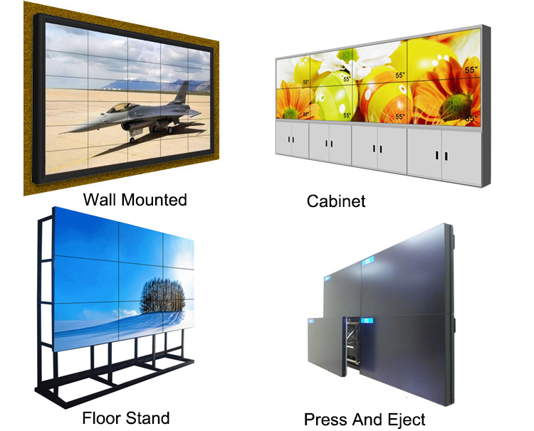 LG 49 inch wall mounted video wall ad display 4k 1.8mm lcd video wall ad display