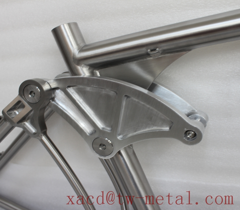 Titanium tandem bike frame Custom ti tandem &suspension bike frame XACD made titan mountain&suspension bike frame