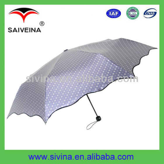21 Inches 8 Ribs 3 Folding Unique Umbrella Designs