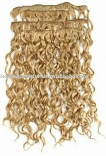 Fashion curly remy human hair clip in extention