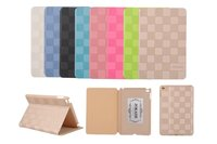 New Fashion Original JOKADE Luxury Grid Leather Ultra Thin Smart Pad Case Protective Skin For iPad Mini 4 Stand Cover