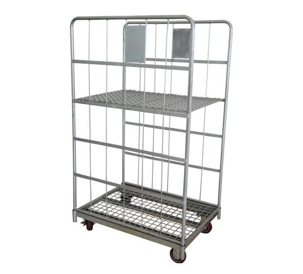 logistic cart movable warehouse logistic trolley steel wire cart